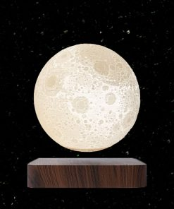 Levitating printed moon lamp-3