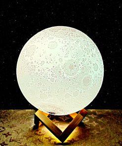3D printed moon lamp night light