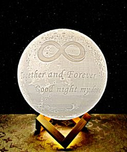 Together and forever moon lamp