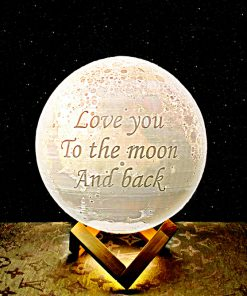 Love you to the moon and back moon night light