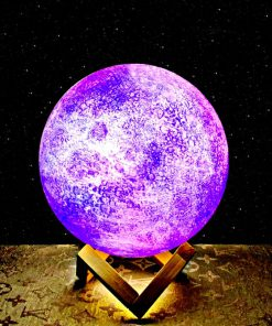 galaxy moon night light